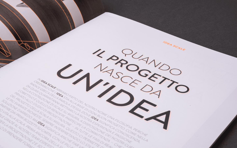 Idea Scale dettaglio tipografia