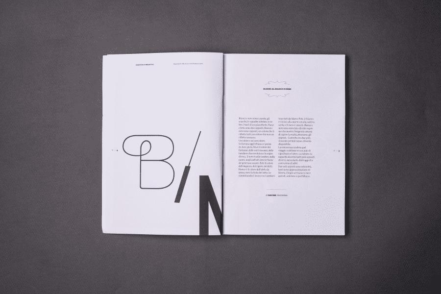 Editorial Design Bianco e Nero