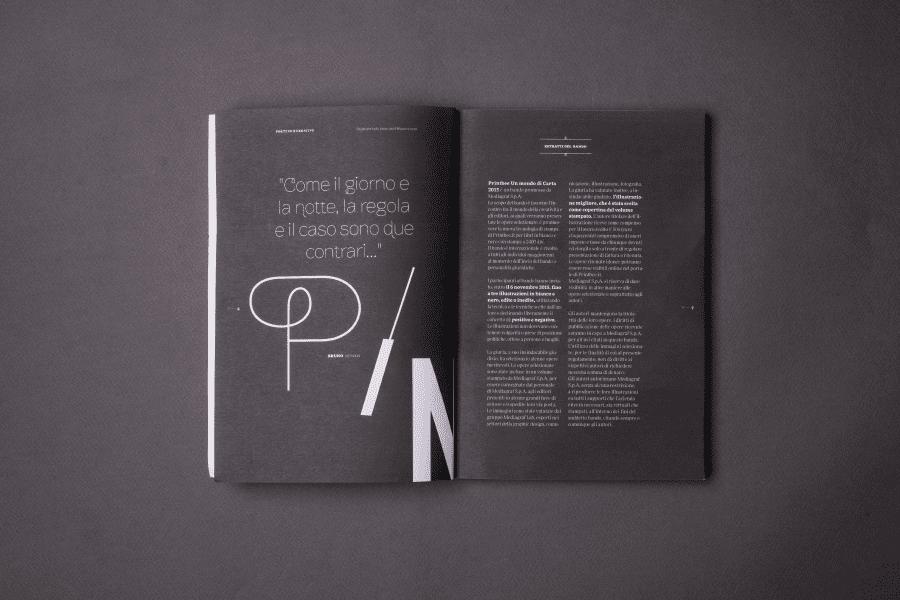 Editorial Design Positivo e Negativo