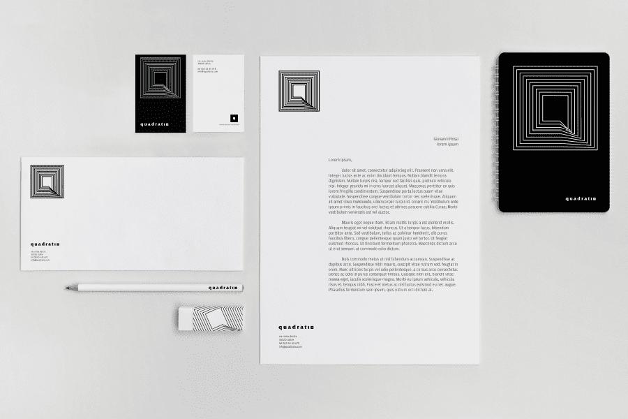 Brand quadrato stationary