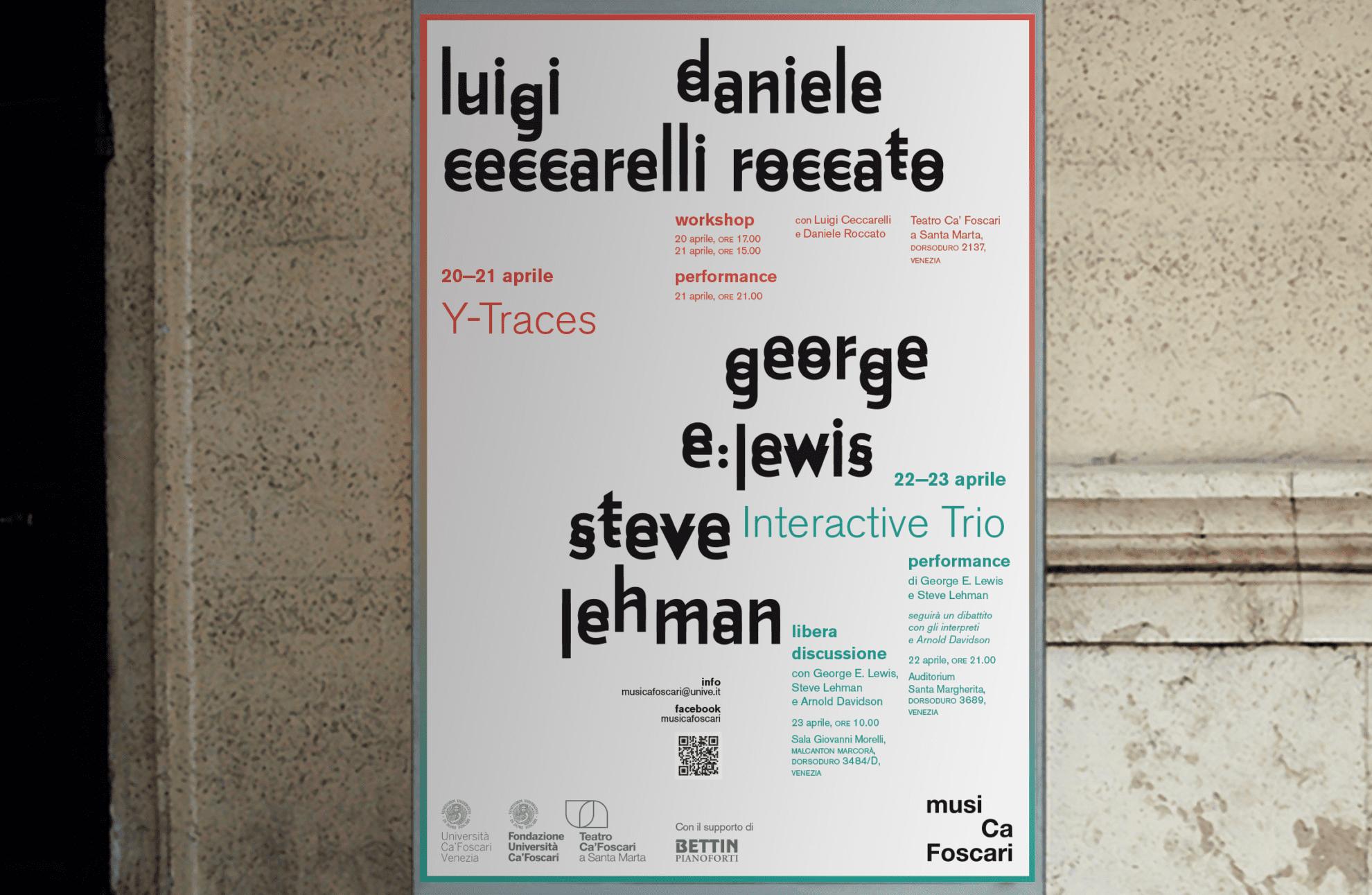MusiCa Foscari affissione poster su Palazzo