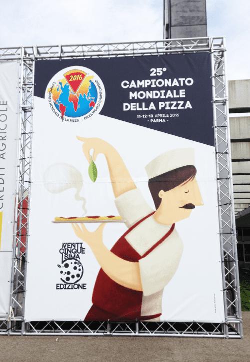 Allestimento Campionato Mondiale della Pizza esterno