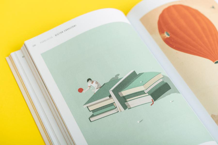 design editoriale illustri dettaglio