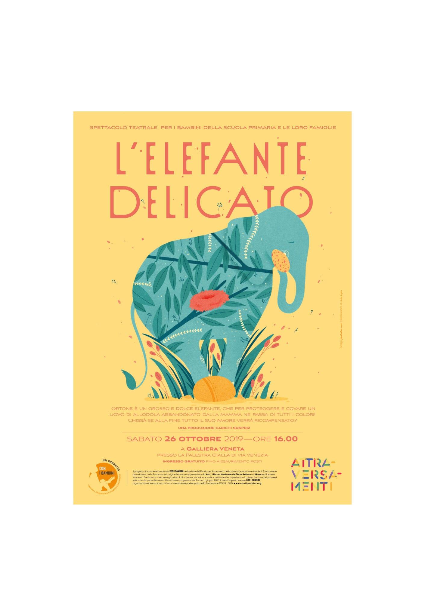 Elefante delicato-locandina gialla